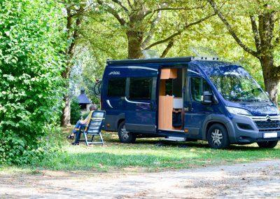 Camping-car séjournant sur l'un de nos emplacements