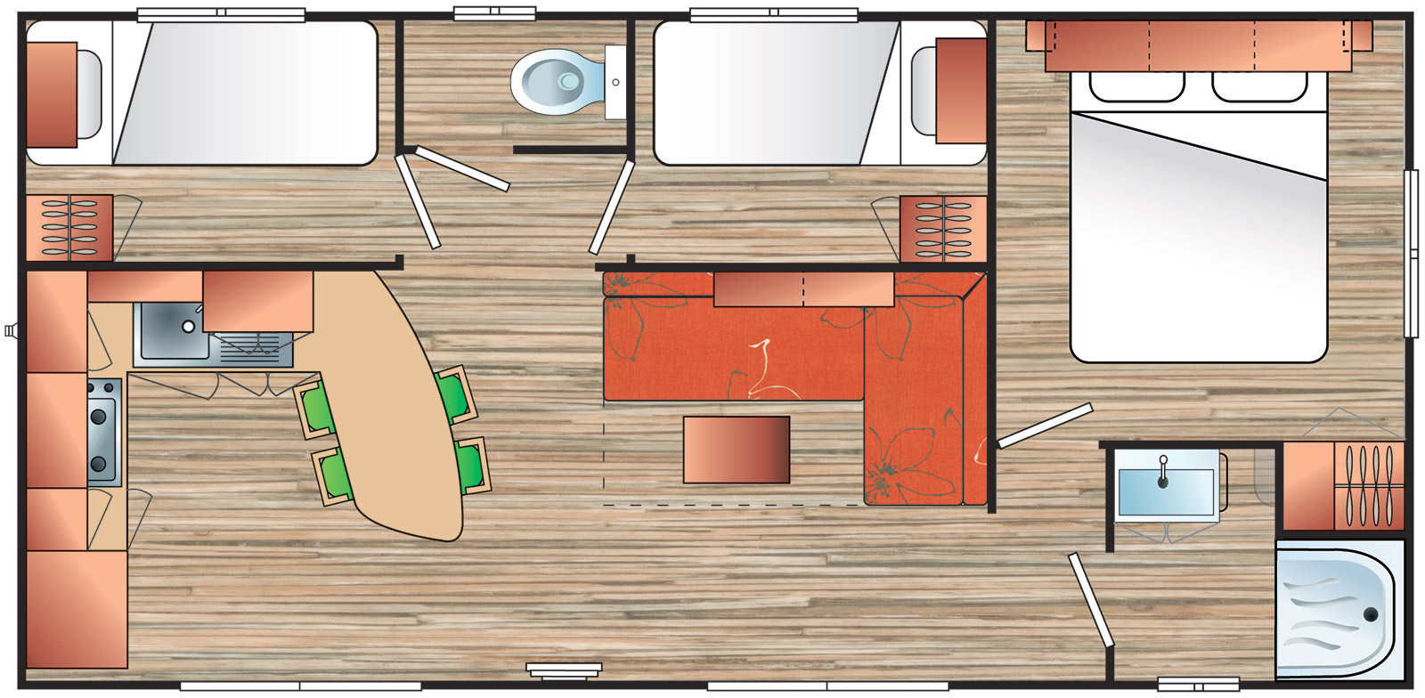 Plan of our mobil-homes