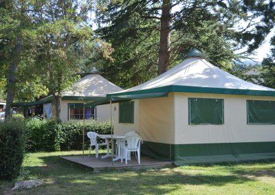 Des tentes Bengali tout confort en pleine nature