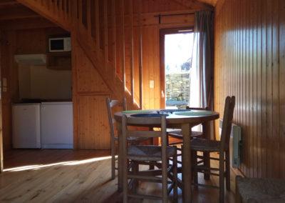 Cuisine et salle à manger grand chalet