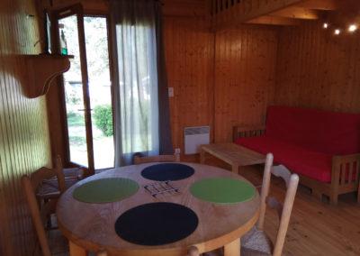 Salon et salle à manger grand chalet